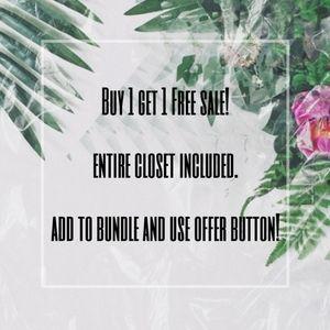 Buy 1 Get 1 Free Sale!